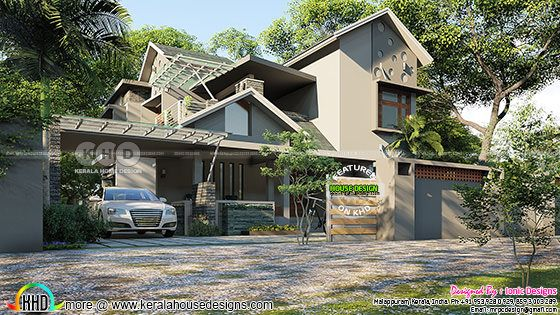 2724 sq-ft 4 bedroom ultra modern home