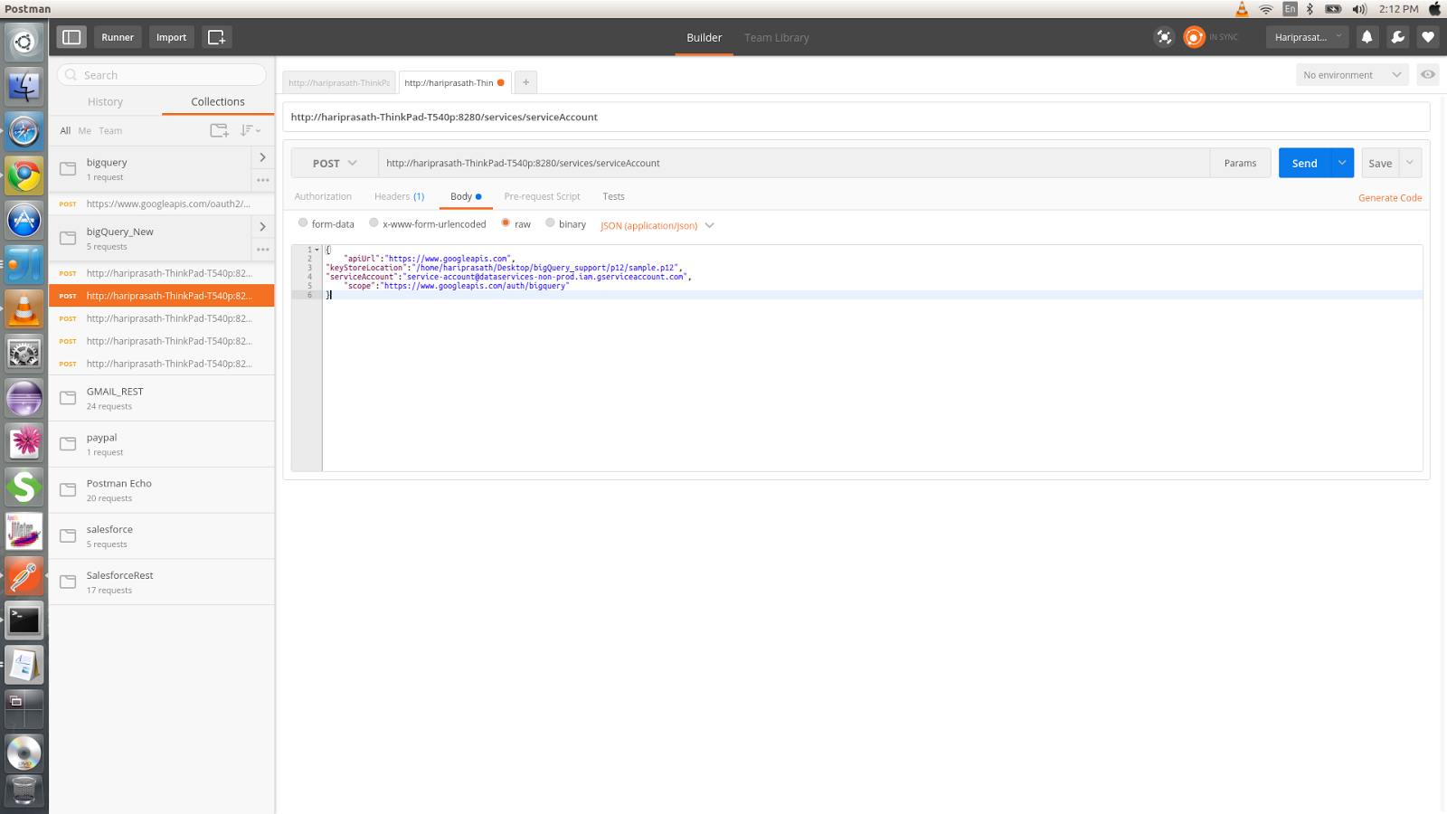 Working with SERVICE ACCOUNT authentication in Googel API's with the