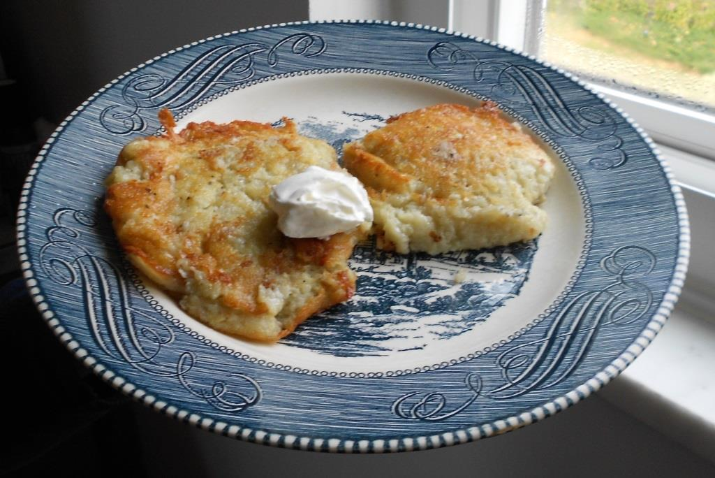 Old-World Style Potato Pancakes on a Plate