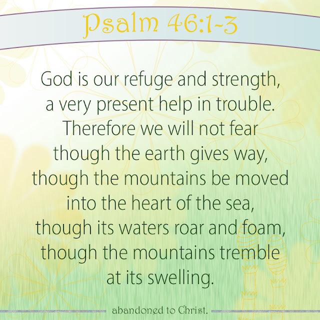 #PsalmSunday: Psalm 46:1-3