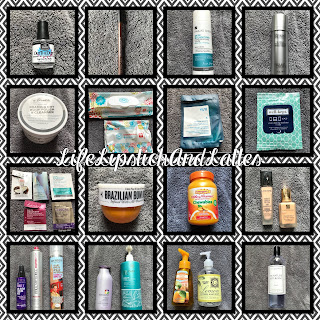 beauty, hair, nails, laundry products, skincare, vitamins, samples, hand soap