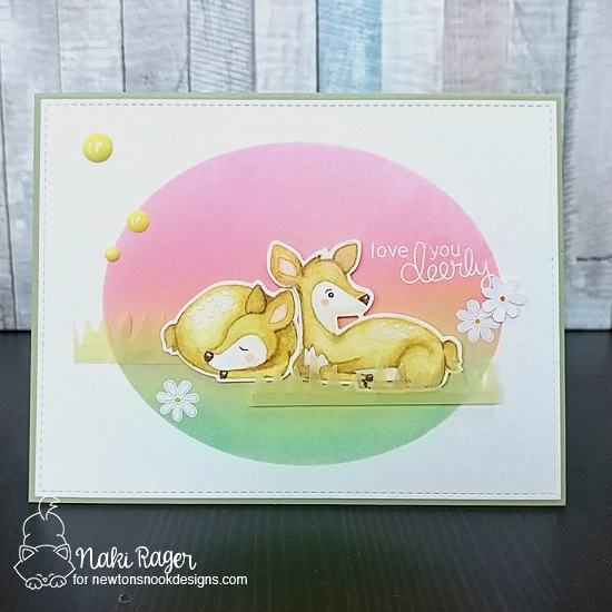Fawn card by Naki Rager | Deer Friend Stamp Set by Newton's Nook Designs #newtonsnook #handmade