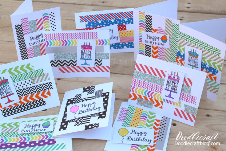 Simple Birthday Cards Are The Best You Can Make A Bunch In One Day And Have All Need For Year They Fast To