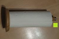 mit Küchenrolle: Lumaland Cuisine Küchenrollenhalter aus Bambus mit Edelstahl Spitze, Ø ca. 14 cm x 32 cm