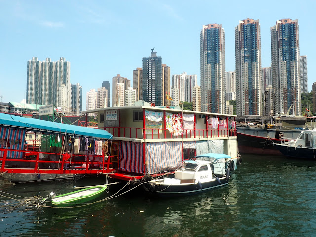 Docks along the promenade at Aberdeen, Hong Kong