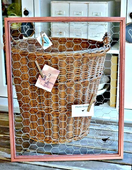 Repurposed Frame Photo Holder. Homeroad.net