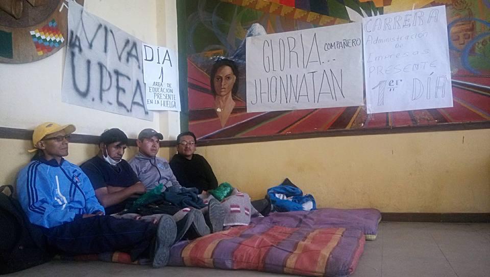Estudiantes de UPEA ingresaron en huelga de hambre / FACEBOOK EN LA UPEA