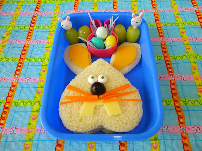 Happy Easter bunny bento school lunch