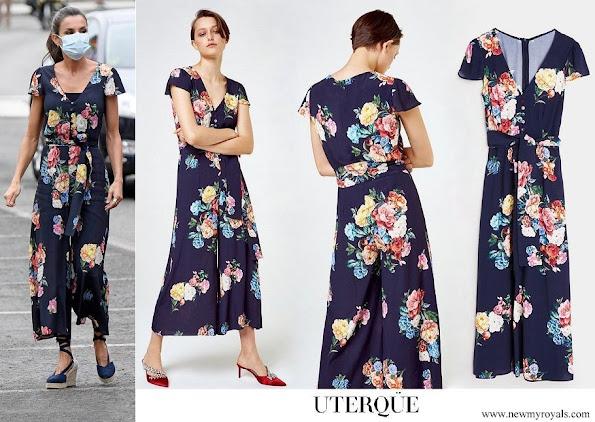 Queen Letizia wore UTERQUE Floral Print Jumpsuit