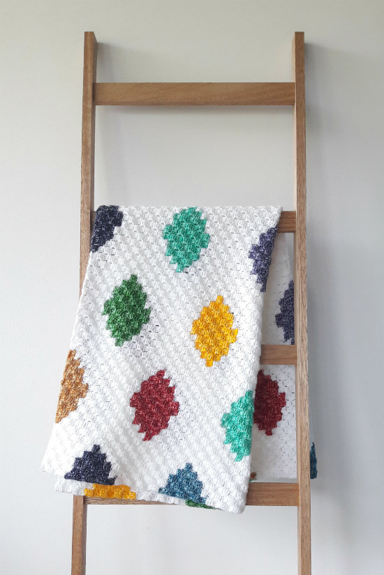 C2C harlequin blanket, free crochet pattern | Happy in Red