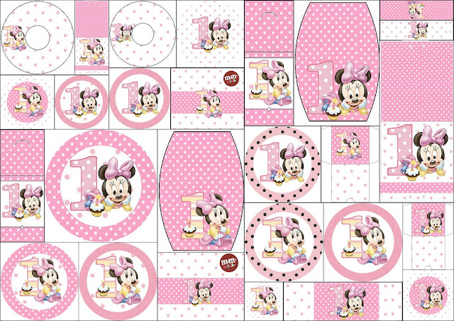 Minnie First Year With Polka Dots Free Printable Candy