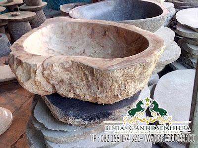 Wastafel Batu Fosil, Produk Wastafel Batu Alam Murni, Jual Wastafel Batu Alam