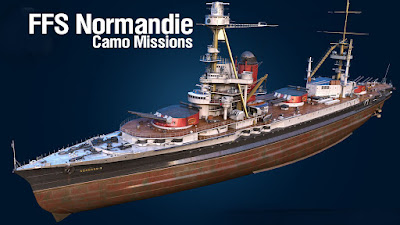 World of warships Normandie Camouflage missions