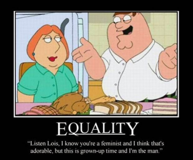 Family Guy's Peter Griffin lets the wife know how things roll...