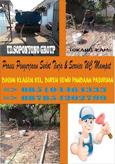 Sedot WC Klagen Pandaan Pasuruan, 085104464333