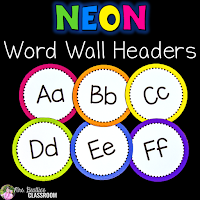Cover of word wall letters resource