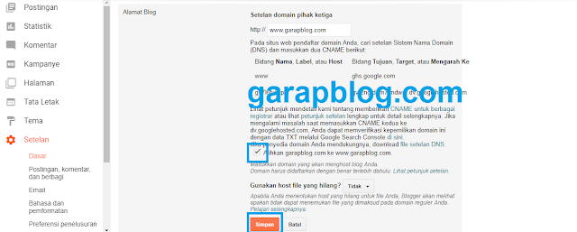 Cara Merubah Domain Blogspot ke Top Level Domain (TLD) dari Domainesia