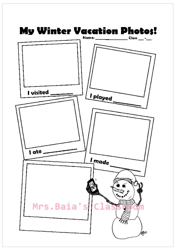 winter vacation photos worksheet mrs baia 39 s classroom. Black Bedroom Furniture Sets. Home Design Ideas
