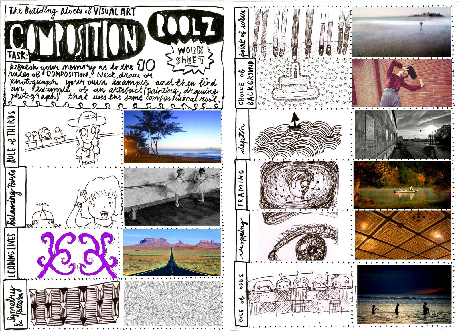 stacey muir graphics unit 1 composition worksheet. Black Bedroom Furniture Sets. Home Design Ideas
