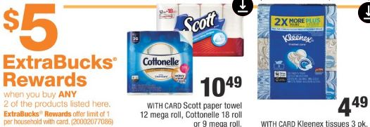 Kleenex Scott & Cottonelle  cvs deals