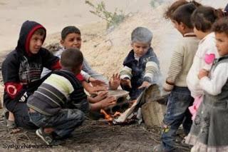Kekejaman Syiah Suriah; Ribuan Anak-anak Aleppo Terancam Mati Kedinginan