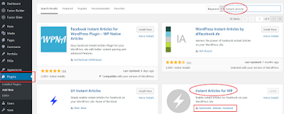 instal plugin instant article wordpress