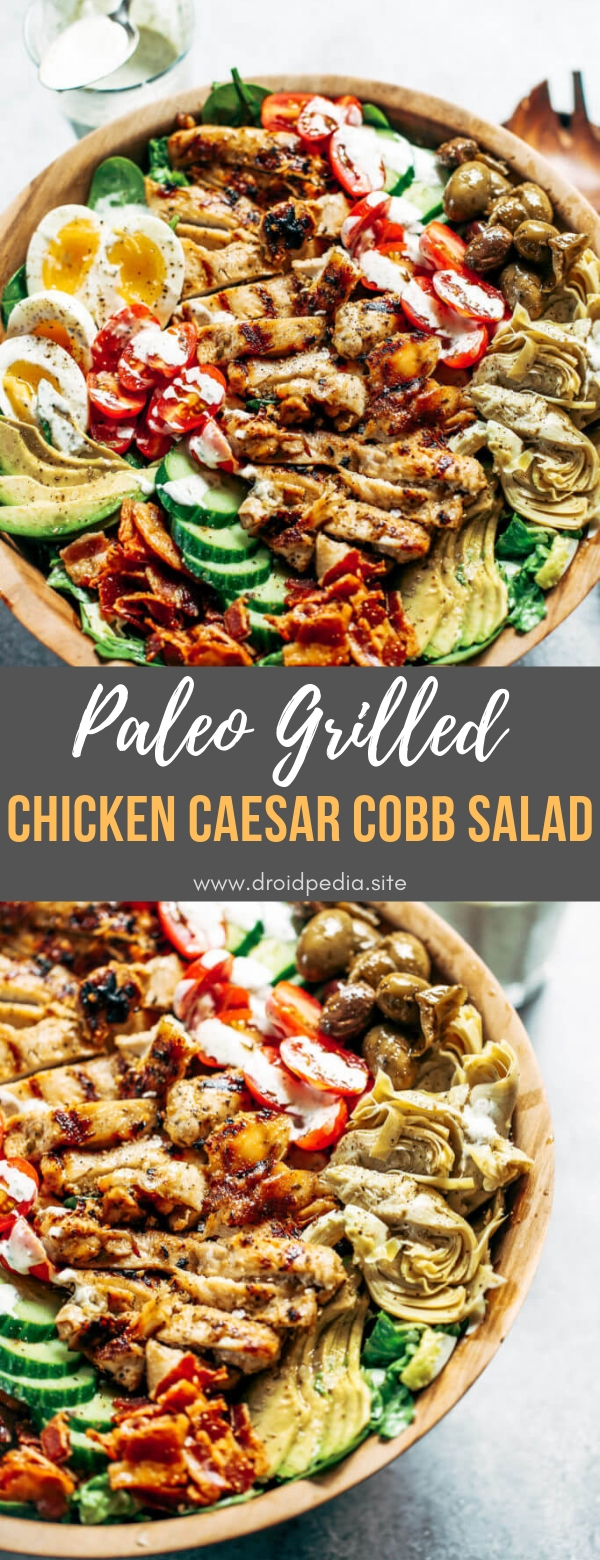Paleo Grilled Chicken Caesar Cobb Salad #maincourse #paleo #grilled #chicken #caesar #cobb #salad