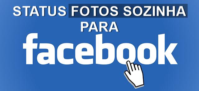 imagem status fotos sozinhas no facebook