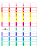 multicolor 3 section check boxes printabl planner sticker
