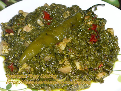 Pork and Spinach in Coconut Milk, Pinoy Laing Style Dish