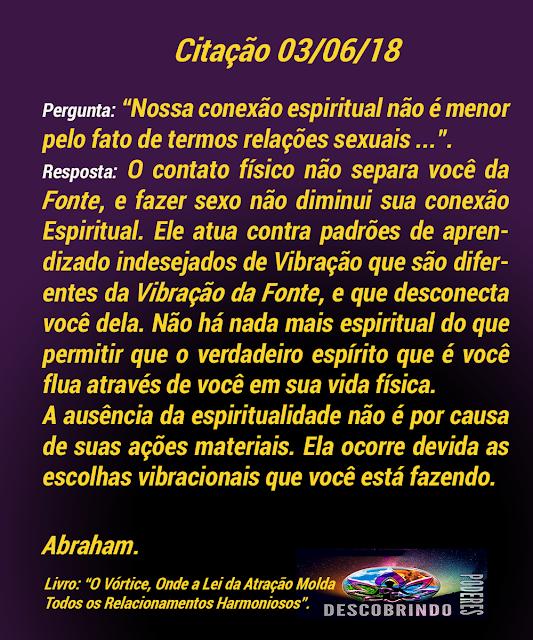 Citação Diária Abraham Hicks - Citação do Dia 03/06/18