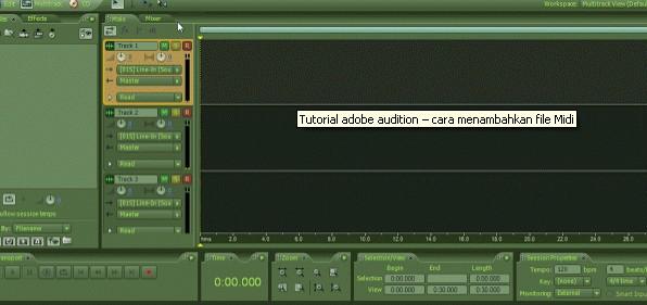 Tutorial adobe audition – cara menambahkan file Midi