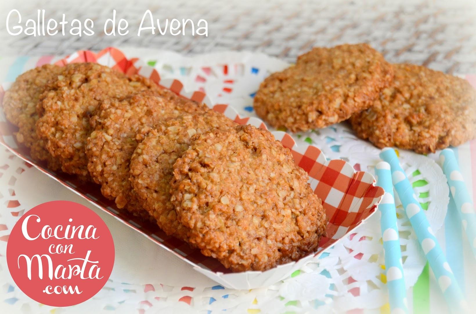 Receta casera galletas de avena, galletas sanas, saludables, sin aceite de palma, sin azúcar, sin aditivos, galletas para niños y bebes, cocina con marta