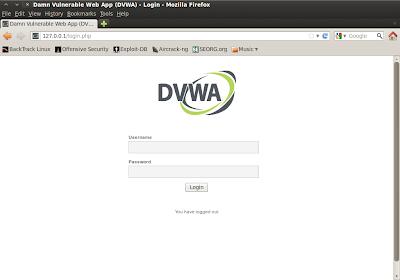 Screenshot-Damn Vulnerable Web App (DVWA)
