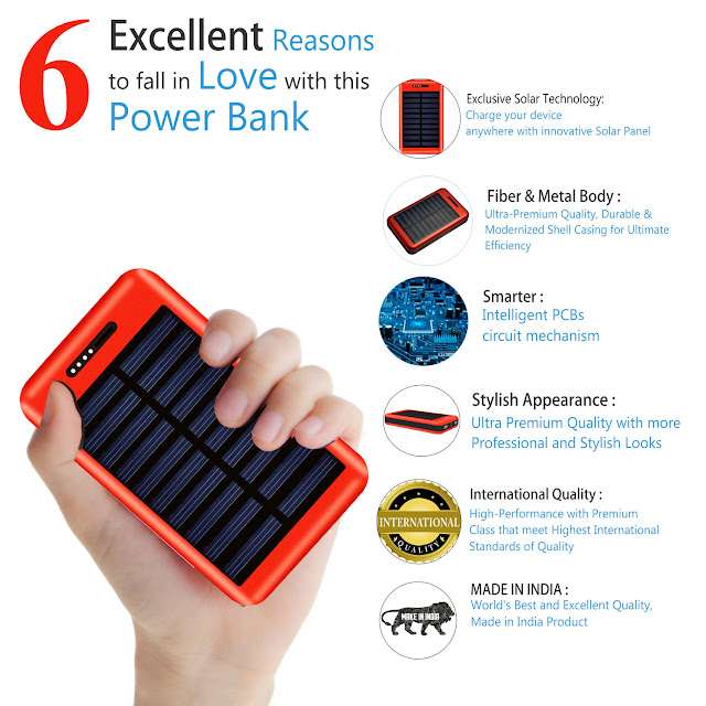 COOLNUT Launched In 13000mAh Solar Power Bank | Best Power Bank Supplier
