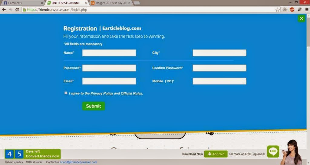Friends Converter Registration