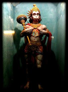 Hanuman statue at Parmarth Niketan Ashram