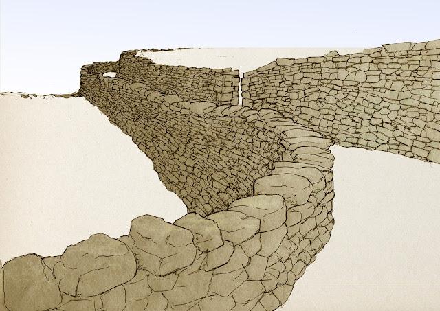 piedra en seco, margenes camino