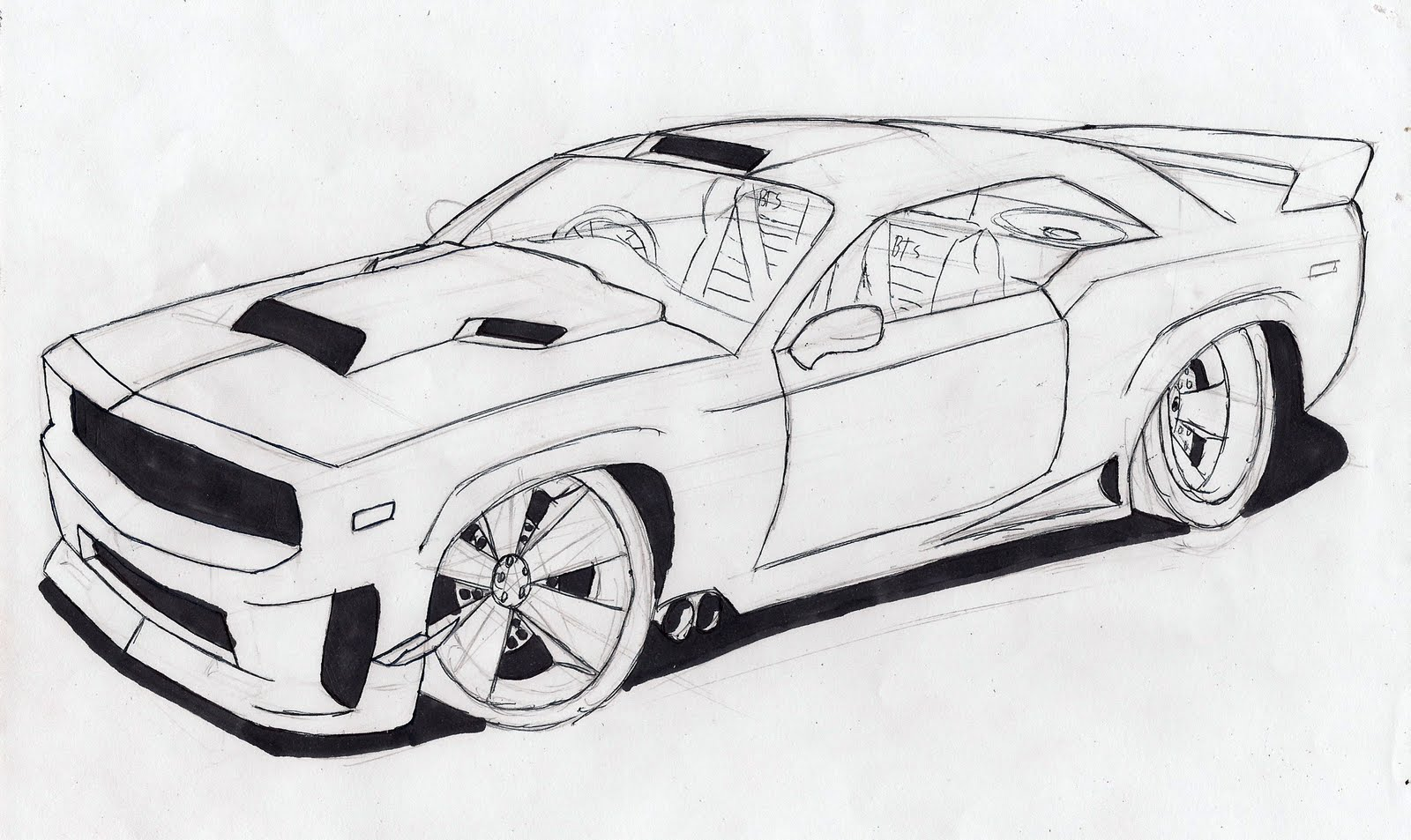 Village Of The Wolves My First Muscle Car Drawing