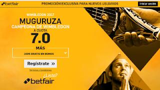 betfair supercuota 7 Muguruza gana Wimbledon 15 julio 2017