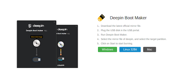 Cara Membuat Bootable Linux/Windows Dengan Deepin Boot Maker