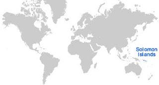 Gambar Peta letak Kepulauan Solomon