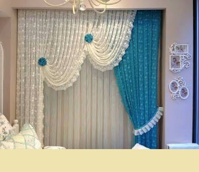 Best 50 turquoise curtain designs and color combinations 2019 - Turquoise curtains for living room ...