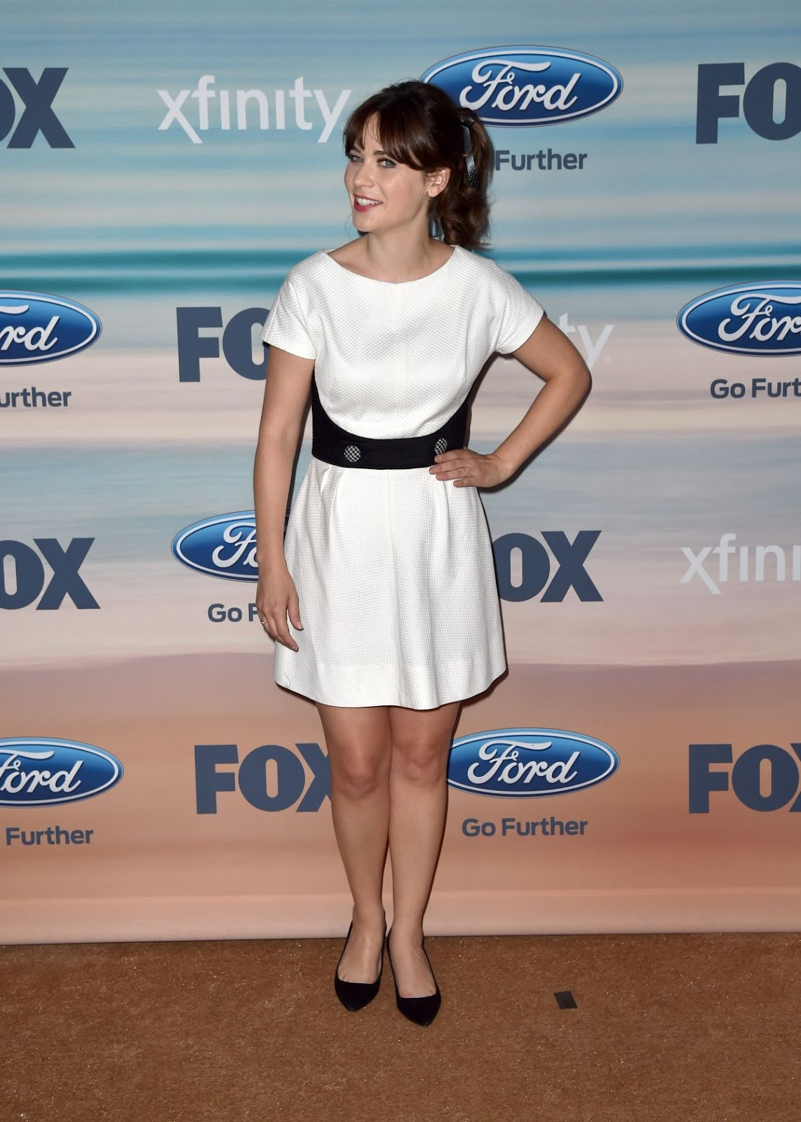 Full HQ Photos of Zooey Deschanel at Fox Fall ECO Casino 2014 Party in Santa Monica