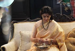 Keerthy Suresh in Saree in Mahanati Working Stills 1