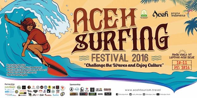 Aceh Surfing Festival 2016 Digelar di Pantai Kuala Cut Lampuuk
