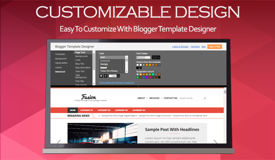 Compatible with blogger template designer