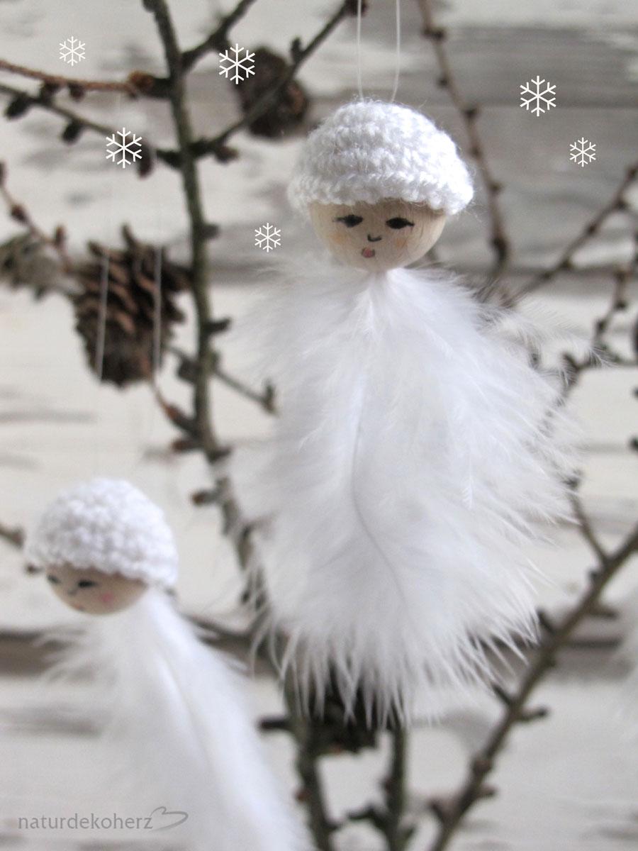 naturdekoherz wei e weihnachten diy schneeflocken mit h kelkappen. Black Bedroom Furniture Sets. Home Design Ideas