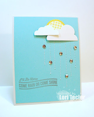 Come Rain or Shine card-designed by Lori Tecler/Inking Aloud-stamps from My Favorite Things