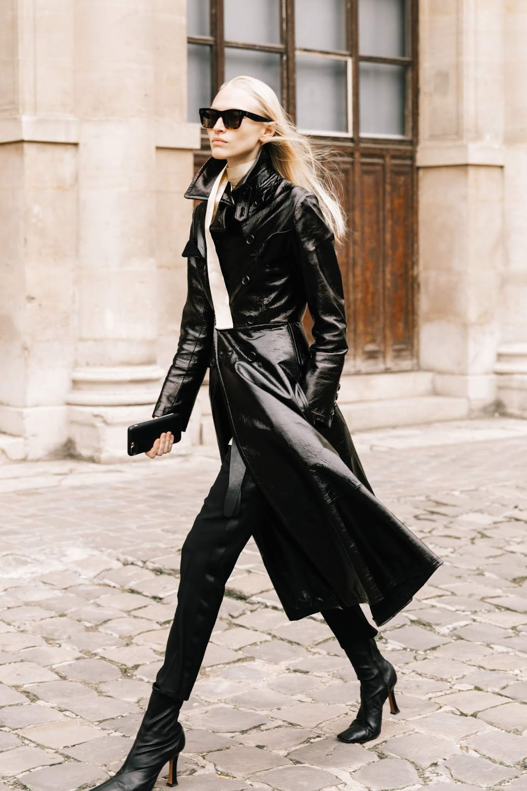 Add a Leather Coat to Give Your Outfits An Easy Edge